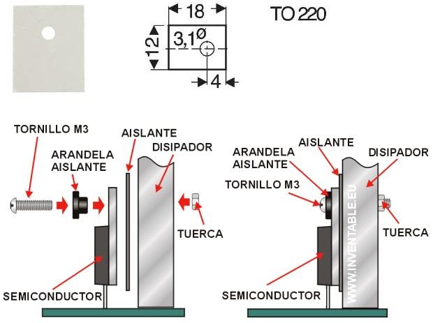 Disipador para TO-220 15X10X25mm