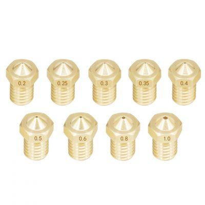 Boquillas de latón MK8 Nozzle Roscado 1.75 mm