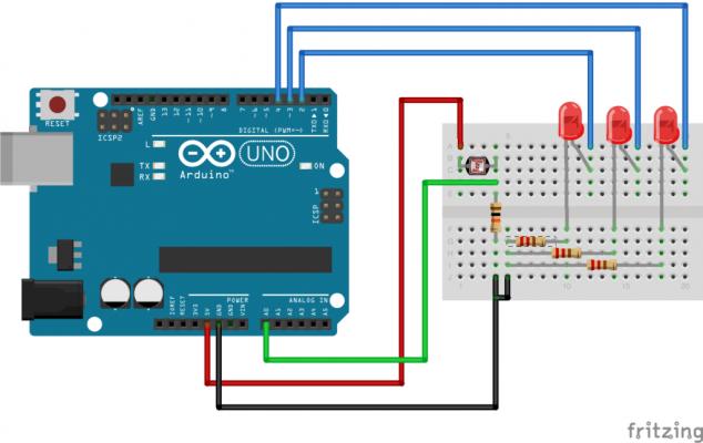 LDR conexión con Arduino