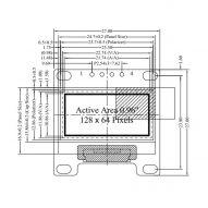 0 96 pulgadas IIC M dulo de pantalla blanca OLED 128X64 I2C SSD1315 12864 pantalla LCD 4