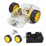 DIY 2 ruedas robot elegante chasis car kit para Arduino