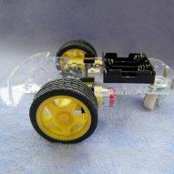 DIY 2 ruedas robot elegante chasis car kit para Arduino 4