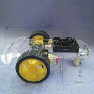 DIY 2 ruedas robot elegante chasis car kit para Arduino 5