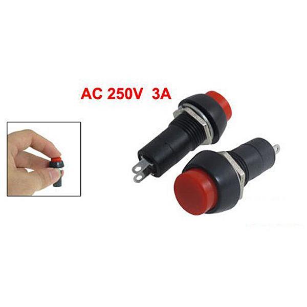 Nueva 5 piezas 12mm 250 V 3A interruptor de bot n rojo PBS 11B No auto 3