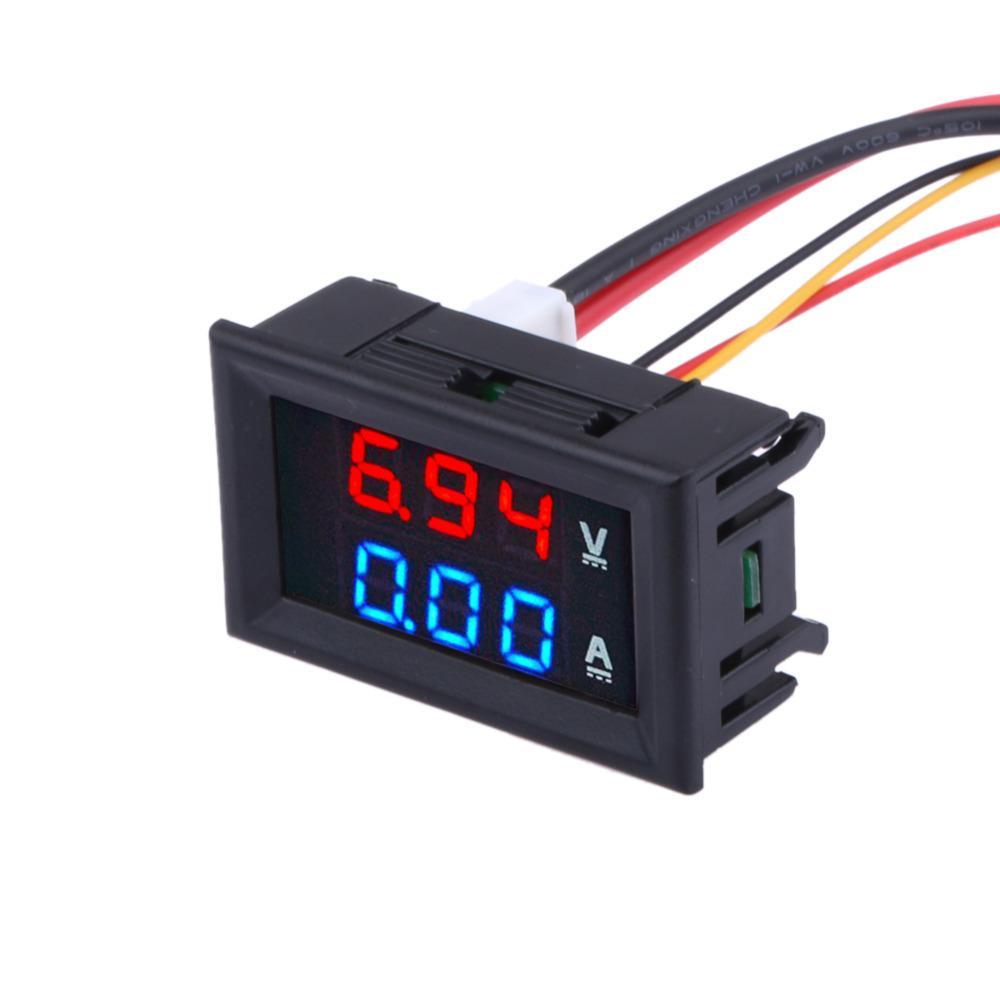 DC 0 100 V 0 10A volt metro amper metro LED amperio digital Volt voltaje tabla