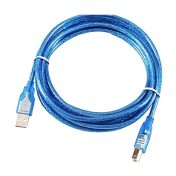Centechia-Transparent-Blue-30cm-USB-2-0-Printer-Cable-Type-A-Male-to-Type-B-Male-1