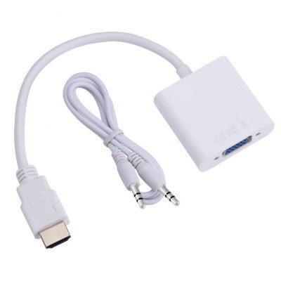 Adaptador-HDMI-a-VGA-Video-cable-convertidor-de-cable-de-hasta-1080-P-de-anal-gico