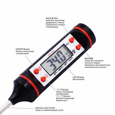 Termómetro medidor de temperatura digital