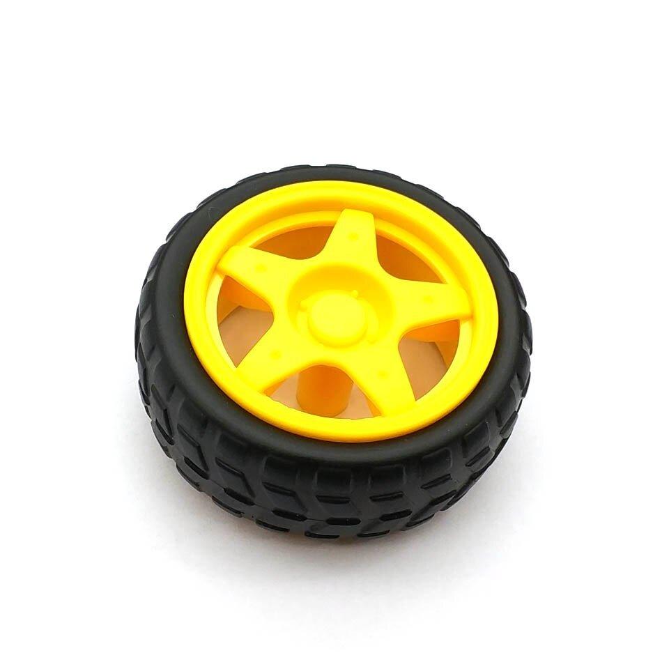 1 par 2 uds ruedas de soporte chasis/neumático/ruedas de coche robot diámetro 65MM grosor 28MM DIY 2