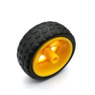 1 par 2 uds ruedas de soporte chasis/neumático/ruedas de coche robot diámetro 65MM grosor 28MM DIY 1