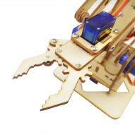 kit brazo robotico madera