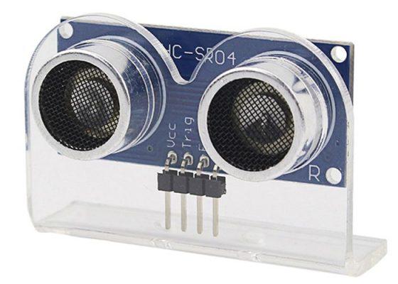 sensor ultrasonico con soporte