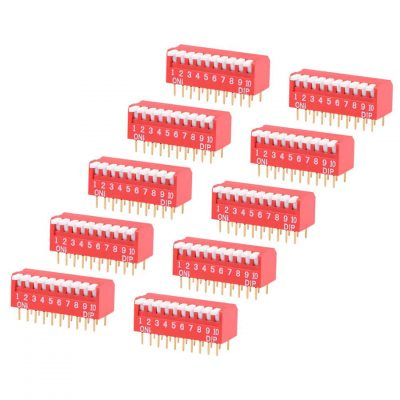 DIP switch 10 pines