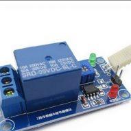 Relé activado con sensor de humedad DC 5V 1 canal