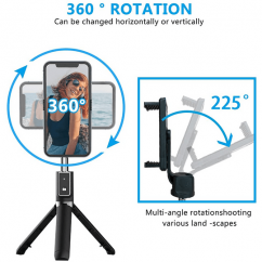 Trípode Bastón Selfie Bluetooth Rotación 360º