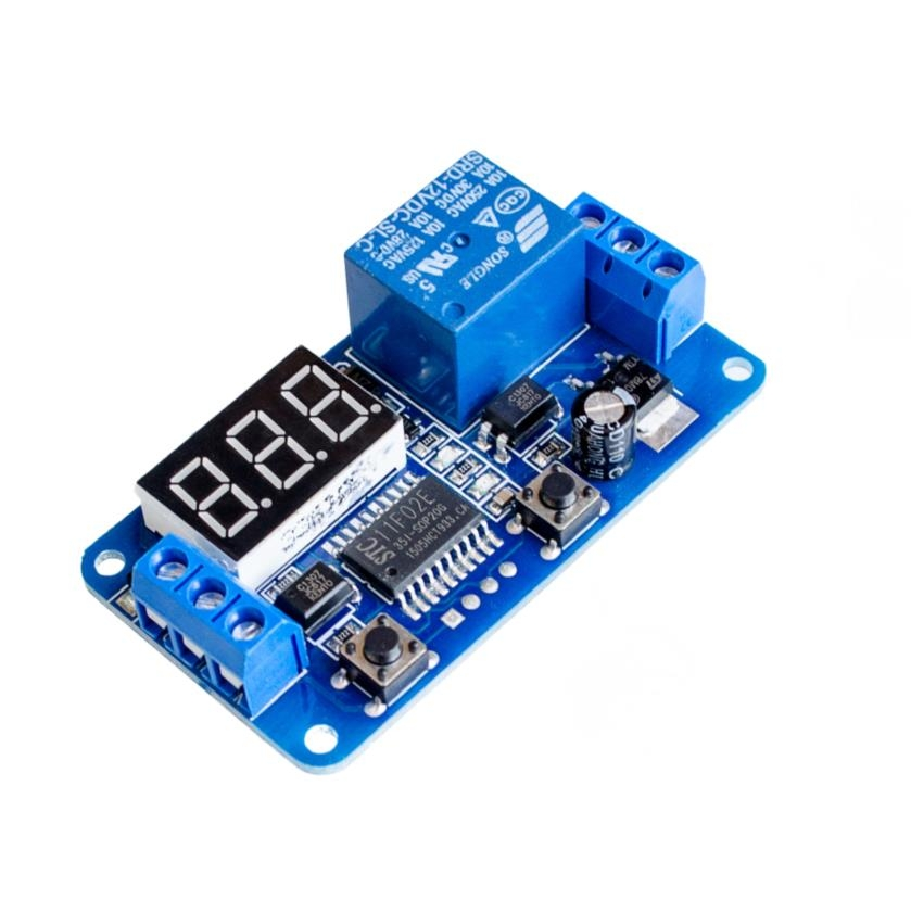 Relé con Temporizador Ajustable 0.1s - 999 min.