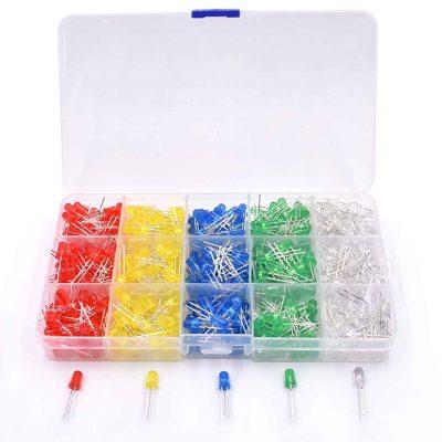 Caja de Leds Rojo/Amarillo/Verde/Azul/Blanco 3mm o 5mm