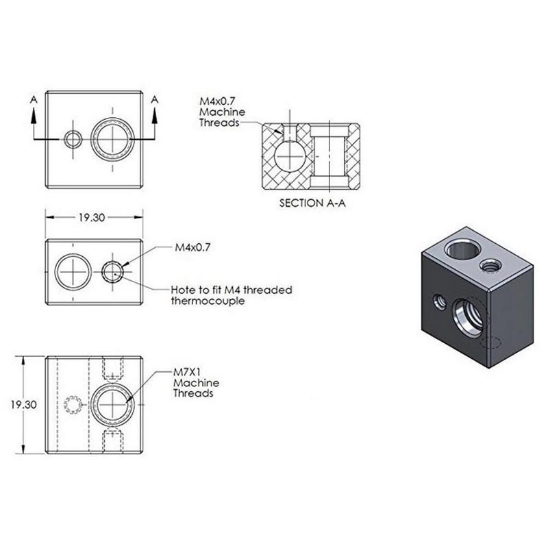Kit Extrusora MK10 Para filamento 1.75mm