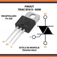 Triac BTA12-600B 12A 600V