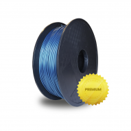 pla cicla 3d azul metalico
