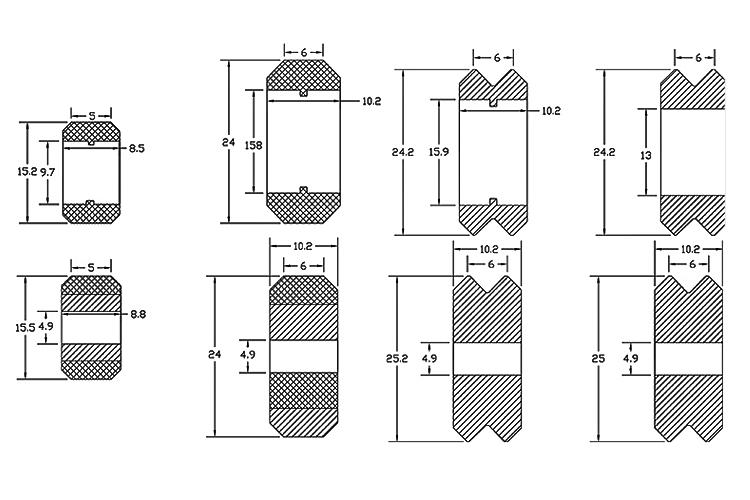 Ruedas de plastico POM/Metal Openbuilds 5mm Diametro