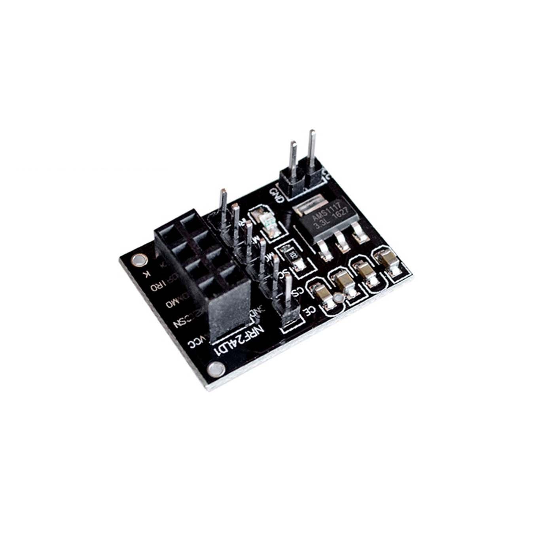 Placa adaptadora para módulo transmisor inalámbrico NRF24L01 de 8 pines