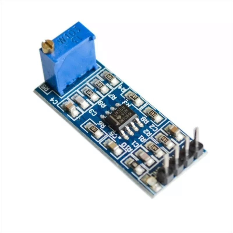 Amplificador 5-12V LM358 resistencia variable 10K