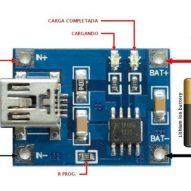 Controlador TP4056 para bat. litio 5V 1A micro USB