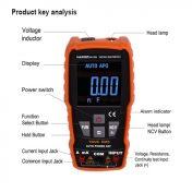 Multímetro Digital Inteligente HARDEN 600V 10A