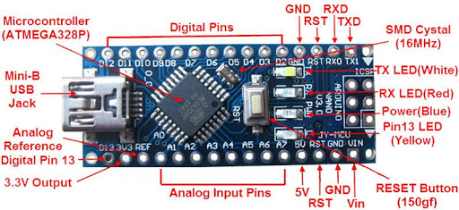Arduino nano V3.0 CH340 + cable